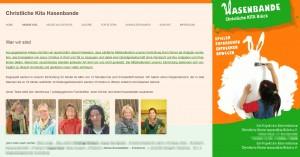 """Erklärung auf der Homepage der """"Kita Hasenbande"""" in Brück (Screenshot)"""