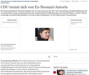MAZ-Beitrag über Nicola Brandstetter (Screenshot)