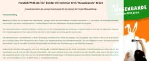 """Erklärung der Kita """"Hasenbande"""" in Brück zu Nicola Brandstetter"""