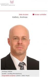 AfD- Landtagsabgeordneter Andreas Kalbitz (Screenshot: Landtag Brandenburg)
