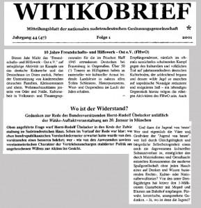 """Andreas Kalbitz als Autor im """"Witikobrief"""" (Ausschnitt)"""