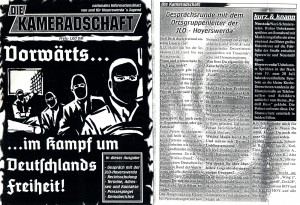 "JLO-Interview in Neonazi-Zeitschrift ""Die Kameradschaft"" (Faksimile)"