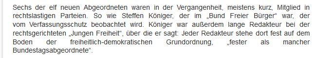 """Steffen Königer (AfD) zur """"Jungen Freiheit"""""""