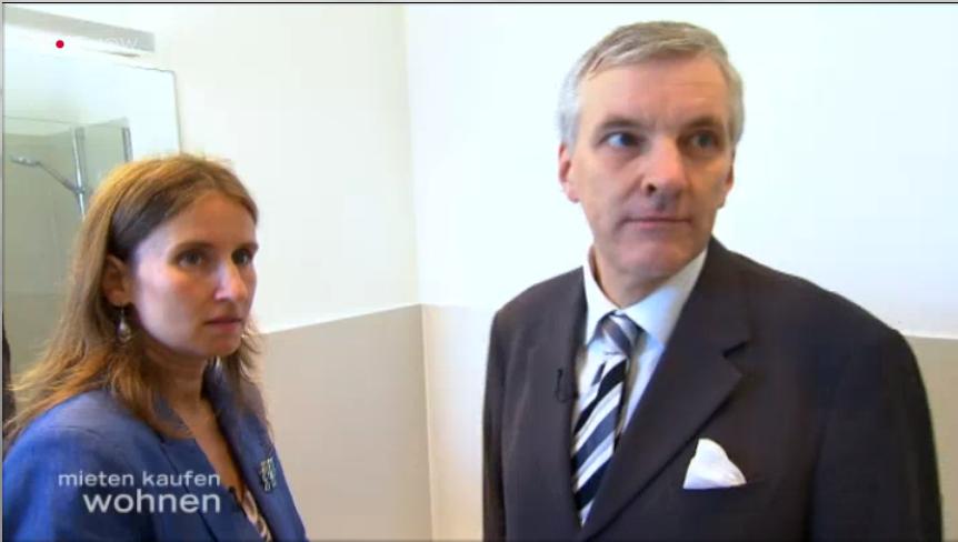 Catrin Wildgrube und Arpad von Nahodyl bei VOX (Screenshot).