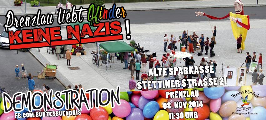 """""""Prenzlau liebt Kinder"""" - Aufruf zum Gegenprotest"""