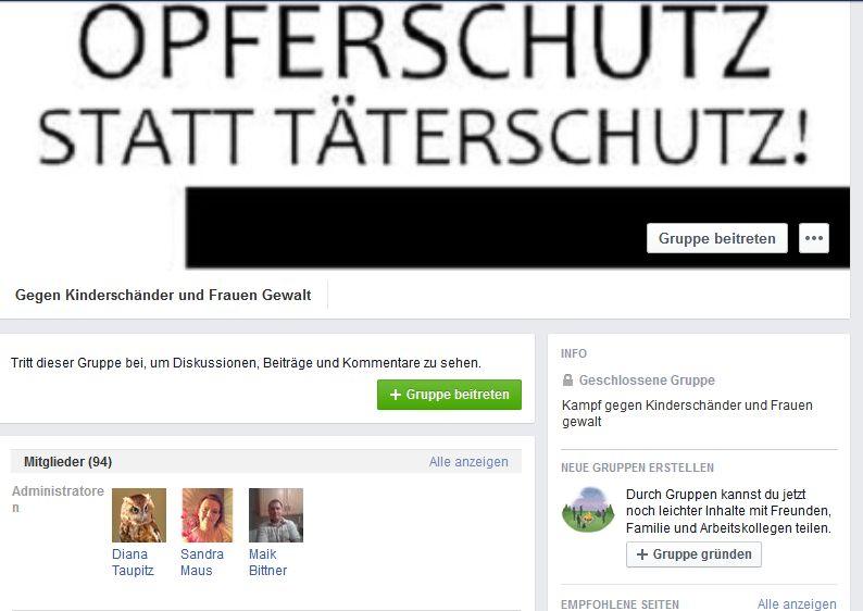"""""""Gegen Kinderschänder und Frauen Gewalt"""": Facebookgruppe, die zur rechten Demonstration in Prenzlau aufruft"""