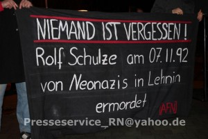 Gedenken an Rolf Schulze