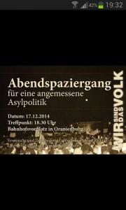 Ankündigung der Nazi-Demo in Oranienburg