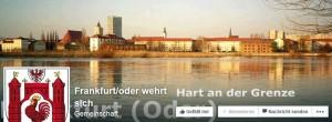 """Titelgrafik der Facebook-Seite """"Frankfurt/Oder wehrt sich"""""""