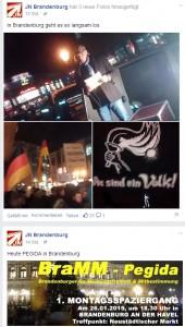Bilder vom Aufmarsch auf der JN Brandenburg Seite
