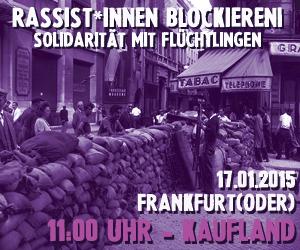 Protest gegen rassistischen Aufmarsch am Samstag in Frankfurt/Oder