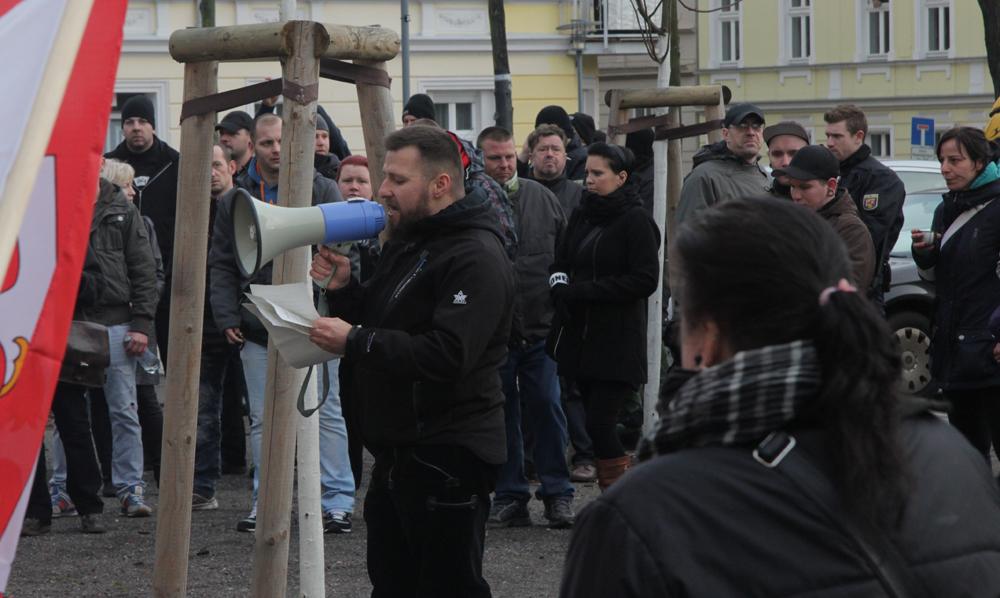 Frankfurt/Oder am 17.1.2015: Redner Maik Eminger