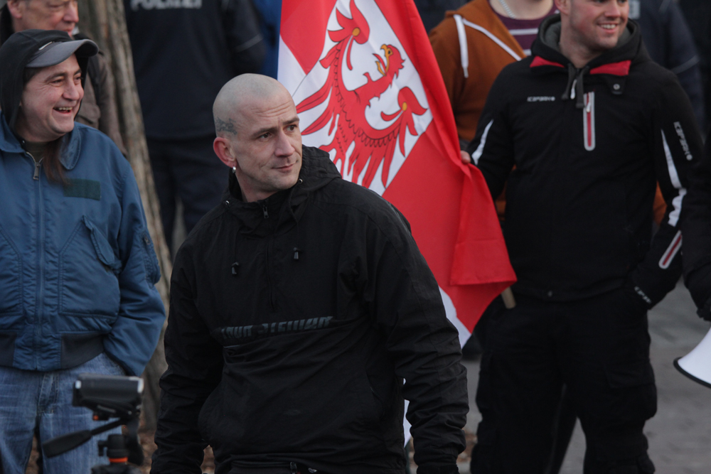 Frankfurt/Oder am 17.1.2015: Initiator Peer Koss