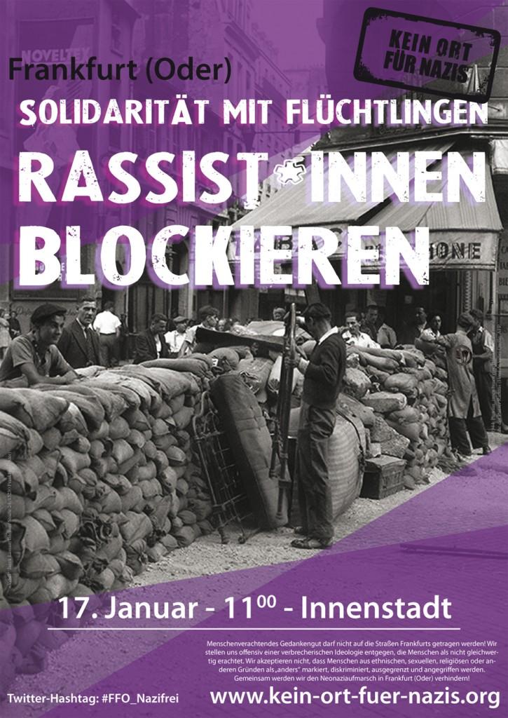 Kein Ort für Nazis: Antifa-Proteste am 17. Januar 2015 in Frankfurt/Oder