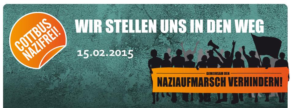 Cottbus: Wir stellen uns in den Weg! Naziaufmarsch gemeinsam verhindern!