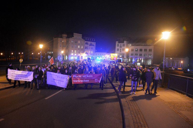 """Demonstration des Bündnisses Oberhavel Nazifrei unter den Motto """"Oberhavel für Alle! - Oranienburg ist andert. weltoffen. bunt"""""""