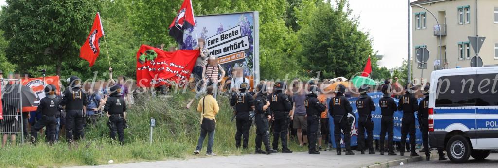 Die Gegenproteste sorgten am Ende dafür, dass die Neonazidemo vorzeitig beendet werde musste.