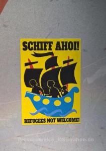 2015.08.30 Premnitz Aufkleber not Welcome