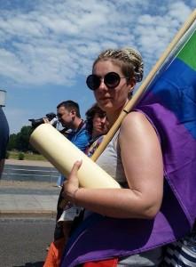 """""""Nie wieder Angst haben"""" - Ein Interview mit Alissa, einer LBGT Aktivistin aus St. Petersburg, die aus Russland nach Deutschland geflüchtet ist und in Brandenburg ihre neue Heimat gefunden hat."""
