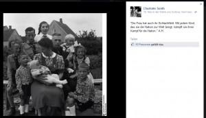 Melanie Witassek zitiert Adolf Hitler auf ihrer privaten Facebook-Seite.