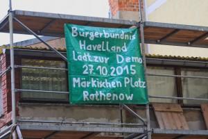 2015.10.18 Rathenow Werbung fuer Demo gegen Asyl