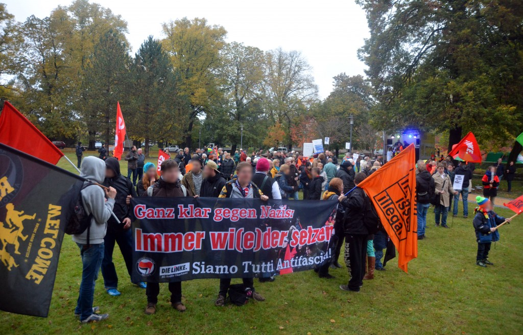 Gegenproteste in Velten