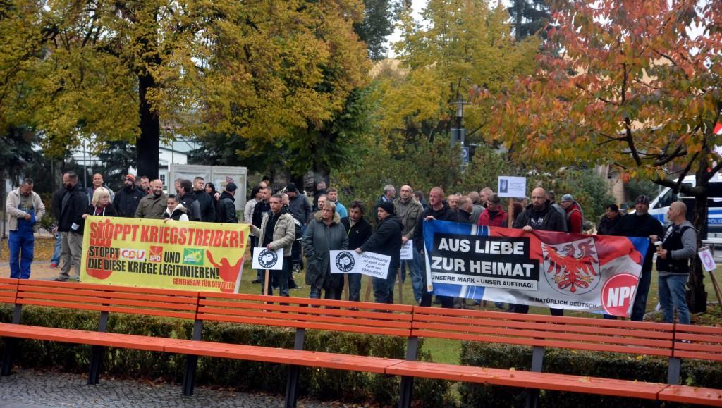 NPD Kundgebung in Velten
