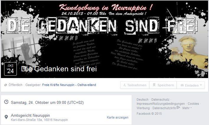 Facebook-Veranstaltung zum 24.10. in Neuruppin