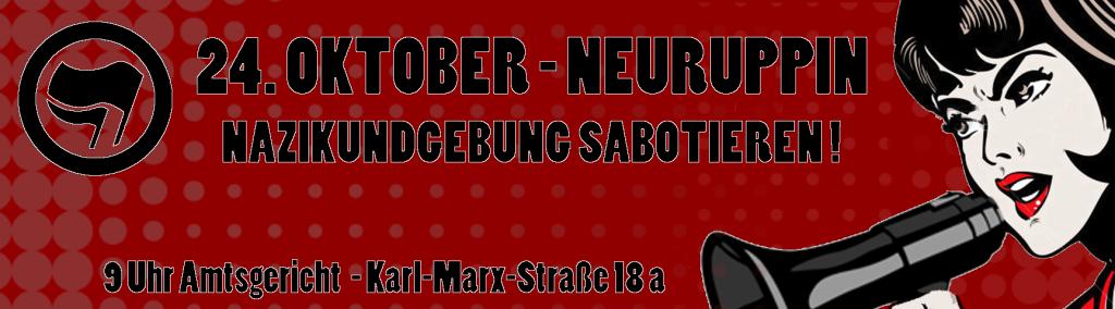 """Unter dem Motto """"Die Gedanken sind frei"""" wollen die """"Freien Kräfte Neuruppin/Osthavelland"""" am 24. Oktober 2015 um 9 Uhr in Neuruppin am Amtsgericht eine Kundgebung veranstalten."""