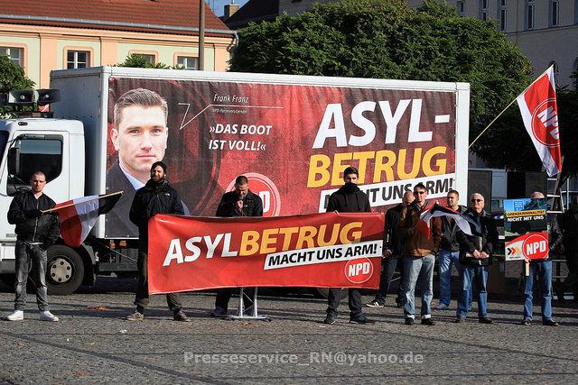 NPD Kundgebung in Brandenburg/Havel. Bild: Presseservice Rathenow