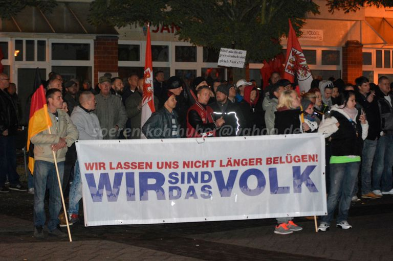 Auftaktkundgebung in Velten. Bild: Sören Kohlhuber