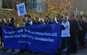 Zukunft Heimat in Lübbenau mit AfDler Andreas Kalbitz in der ersten Reihe