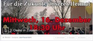 """Demo von AfD-Jugendfunktionär in Zossen wird von """"Zukunft Heimat"""" unterstützt"""