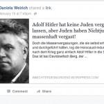 Daniela Weirich leugnet die Schoah – eine von vielen neonazistischen Bekundungen ihrerseits