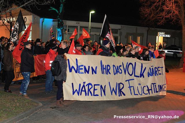Die Gegendemonstration. Bild: Presseservice_Rathenow