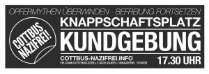 Flyer für die Protestaktionen am 15. Februar 2016 in Cottbus