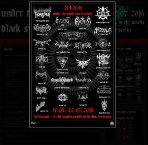 """Werbung für das """"Under the black sun"""" Festival 2016"""