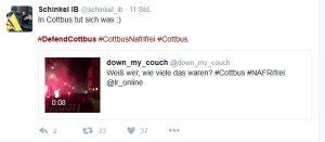 Robert Timm auf Twitter zum Marsch in Cottbus