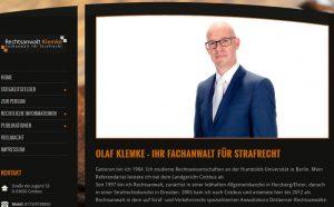 So präsenitert sich Olaf Klemke auf seiner Homepage. Screenshot: olaf-klemke.de