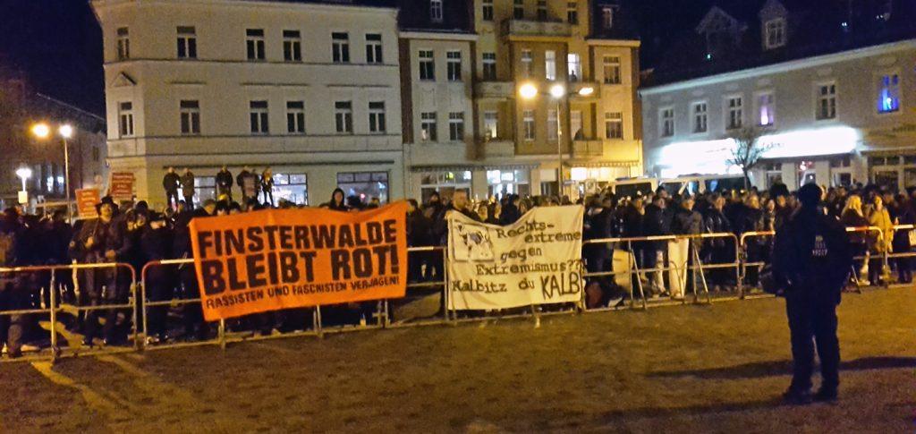 Protest am 16. Februar 2017 gegen die AfD in Finsterwalde
