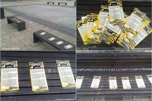 """Propaganda der extrem rechten """"Identitären Bewegung"""", die Freitagfrüh in Rathenow festgestellt worden sein soll"""