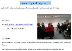 """Screenshot: Bericht der """"Akademischen Erasmusstiftung"""" über Veranstaltung in Potsdam"""
