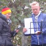 Schieske mit Haberstroh bei ZH-Demo