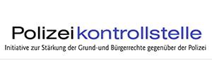 Logo der Polizeikontollstelle - Initiative zur Stärkung der Grund- und Bürgerrechte gegenüber der Polizei