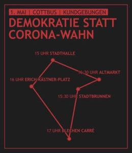 Flyer für die Kundgebungs-Tour
